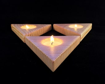 Geometric tealight candle holder set