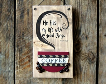 Coffee And Jesus Sign, Wood Coffee Sign, Coffee Decor, Coffee Cup, Coffee Art, Coffee Home Decor, Coffee Kitchen Decor, Wood Signs Sayings