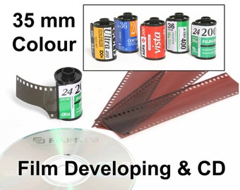35mm Colour Film Processing And Scanned Onto Cd, C41 Developing.