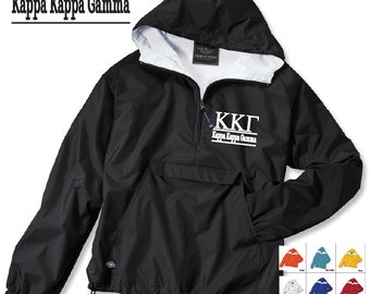 Kappa Kappa Gamma // Kappa // Sorority Charles River Rain Jacket // Choose your color