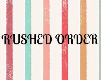 Large Order - Rushed order