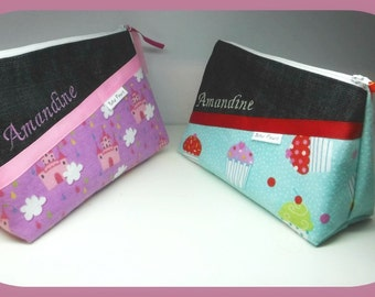 Pencil case, pouch, cute organizer (custom order)