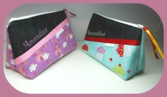 Pencil case, pouch, cute organizer (custom order)