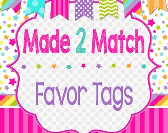 Matching Printable Favor Tags