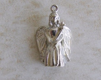 Christmas Angel With Wings Star Wand Sterling Silver Bracelet Charm
