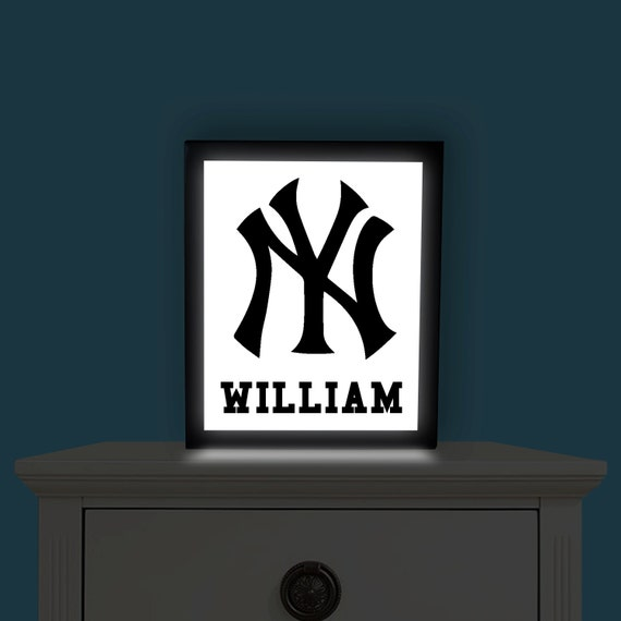 new york yankees light up picture wall art by illuminateddreamz. Black Bedroom Furniture Sets. Home Design Ideas