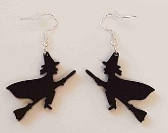 Halloween Witch Earrings - Acrylic