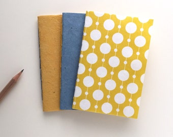 Pocket-sized Paper Cover Jotters - Set of 3