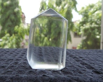 Clear faceted Calcite crystal