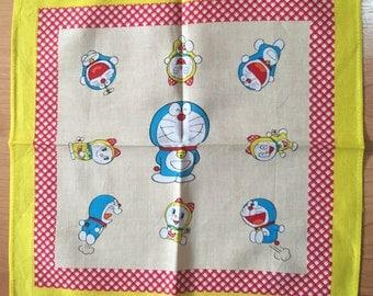 Vintage child's handkerchief Japan Anime Doraemon from Japan