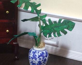 1:12 Scale Dollhouse Miniature Potted Palm Tree/Plant