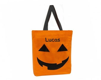 Personalized Halloween Trick or Treat Bag - Jack O' Lantern (XL)