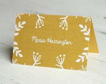 Winter Festive Place Name Card / Place Card / Table Name Card / Name Card / Personalised