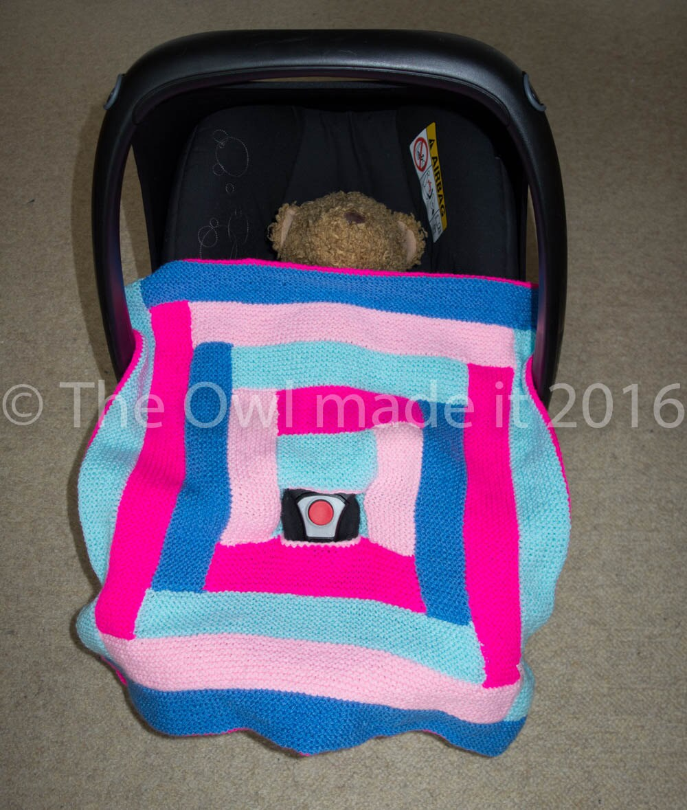 knit car seat baby blanket car seat accessory baby by theowlmadeit. Black Bedroom Furniture Sets. Home Design Ideas