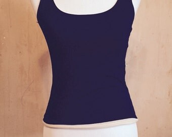 Super cool reversible tank, size small or 6, black and beige