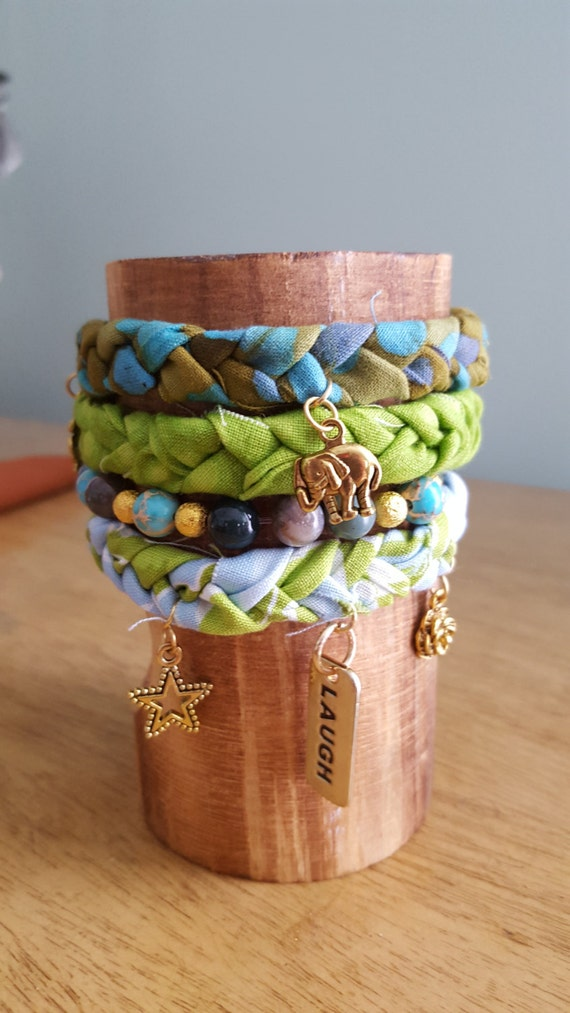 Items Similar To Bracelet, Fabric Bracelet, Fabric Braided