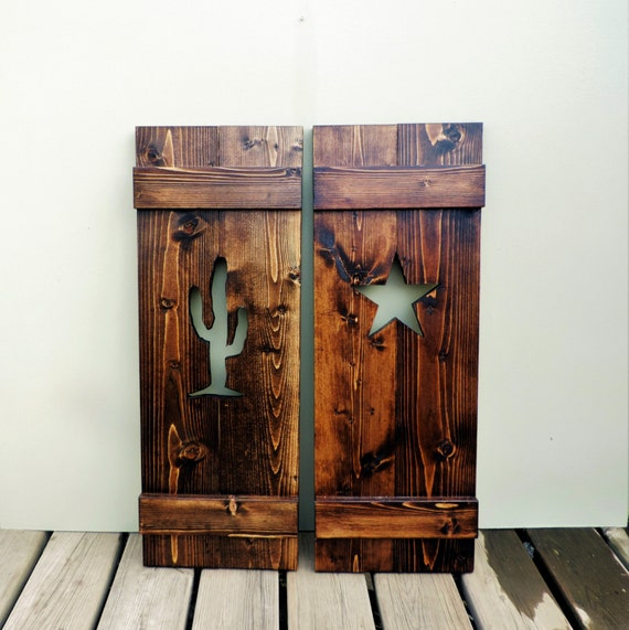 rustic shutters rustic cabin decor window by bluefrogwoodworking
