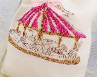 Carousel Party Favor Bags - Carousel Party - Carousel Horse Party - Bags For Candy Bar - Carousel Birthday - Carousel Baby Shower - Set 10