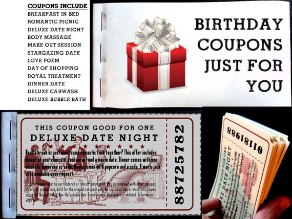 Birthday love coupons for him or her birthday love coupon for Coupon book template for boyfriend