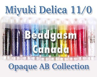 Opaque AB Miyuki Delica Bead Collection 52 grams size 11/0 *with bonus*