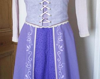 Rapunzel Inspired Adults Dress