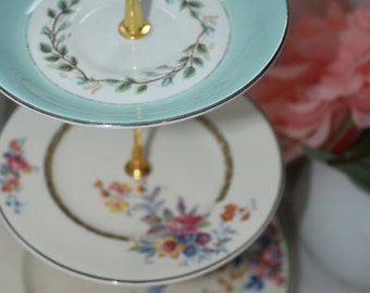 Vintage cake stand plate