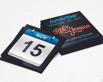 Save the Date Cards - Wedding & Engagement - Design and Printing - 16PT UV - 100, 250, 500, 1000