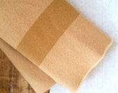 Vintage Hudson Bay Blanket . Hudson's Bay Wool Blanket . Four Point Blanket . Home Decor . Beige Wool Throw . Lodge Decor . Cabin Bedding