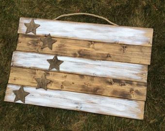 17x27 Wood Flag