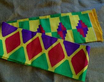 Hand Woven Kente Cloth, Ghana Africa