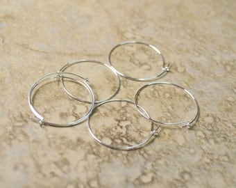 46 pr Silver Plated Earwire Hoops Lot 235