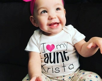 I Love My Aunt Onesie or Toddler Shirt (Item #7011)