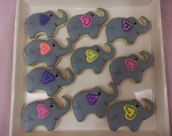 Elephant sugar cookies/ Dozen elephant cookies