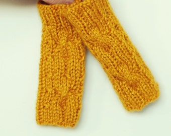 Baby/Toddler Hand Warmers - Wrist Warmers - Knit Fingerless Gloves