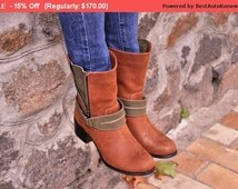 SALE - 15% OFF - Monte - Womens Leather Boots, Slip on Boots, Winter Boots, High Boots, Womens Boots, Custom Boots, Biker boots, FREE cus...