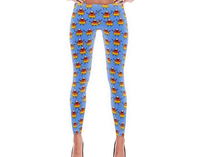 Halloween Cute Candy Corn Leggings