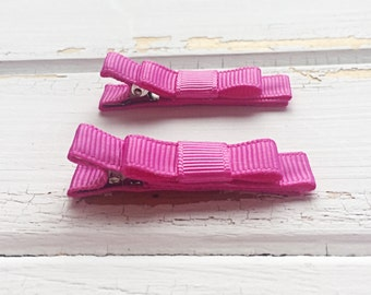 Rose bloom hair clips, Pink hair clips, Toddler hair clips, Girls clips, Hair clips, Handmade