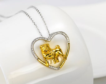 Sterling Silver Shar-Pei Necklace