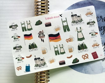 H165 - Germany Planner Stickers | Perfect for Your Erin Condren Life Planner