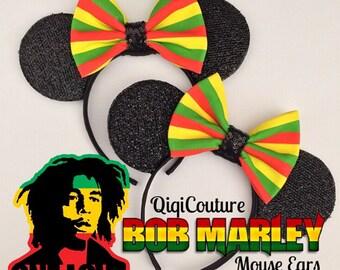 Bob Marley Rasta mouse ears
