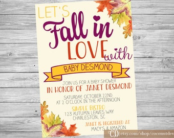 Falling in Love with Baby Shower Invite / Baby Shower Invitation / Falling In Love Baby Shower / Printable File