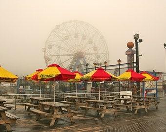 Gloomy Coney Island Morning  - Brooklyn, NY  2014