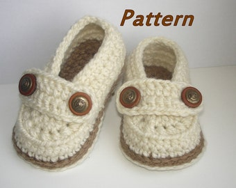 Crochet Baby Shoes Pattern,  Easy Crochet Pattern Baby Loafers, Crochet Booty for boy and girl, Baby Booties Crochet PATTERN n.107,