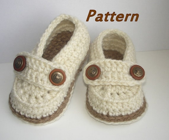 Easy Crochet Patterns For Newborn Booties : Crochet Baby Shoes Pattern Easy Crochet Pattern Baby