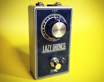 Lazy Drones Fuzz Pedal - One Knob Fuzz Box - Effects Pedal - UK