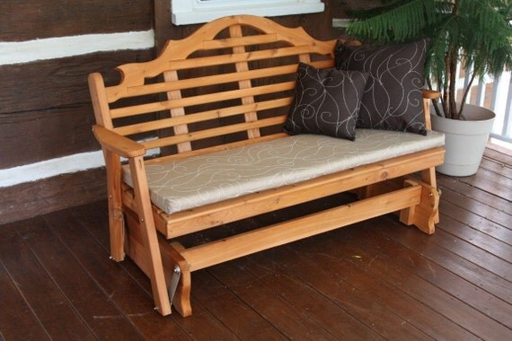 6 foot bench swing glider cushion only 2 inches thick