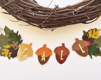 Fall Banner, Acorn Banner, Fall Garland, Felt Garland, Fall Decor, Pumpkin Banner, Pumpkin Garland, Thanksgiving Banner, Thanksgiving, Fall