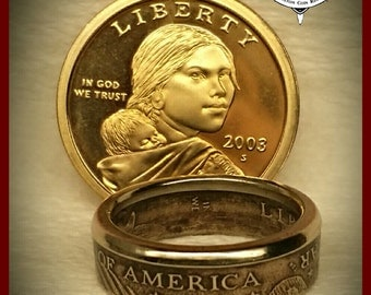 SACAGAWEA Dollar Coin Ring..
