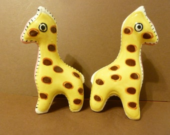 Vintage, Colectible, Giraffe Shakers