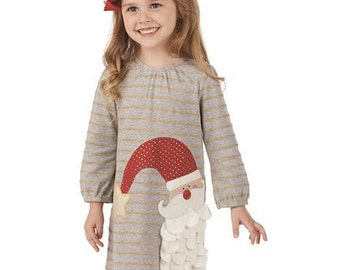 Santa Dress ~ Christmas dress ~ Monogrammed Christmas Dress